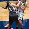 "Dylan Buell | dylanphotog@gmail.com | @dylanphotog<br /> Morghen Turley #11 of the Murray Tigers and Caroline Hayden #25 of the Owensboro Catholic Aces battle for the ball during the All ""A"" Classic Championship at the Frankfort Convention Center Sunday."
