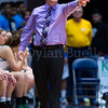 "Dylan Buell | dylanphotog@gmail.com | @dylanphotog<br /> Head coach Michael Robertson of the Owensboro Catholic Aces calls out instructions during the All ""A"" Classic Championship at the Frankfort Convention Center Sunday."