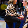 "Dylan Buell | dylanphotog@gmail.com | @dylanphotog<br /> Head coach Rechelle Turner of the Murray Tigers reacts during the All ""A"" Classic Championship at the Frankfort Convention Center Sunday."