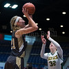 "Dylan Buell | dylanphotog@gmail.com | @dylanphotog<br /> Maddie Waldrop #21 of the Murray Tigers attempts a shot during the All ""A"" Classic Championship at the Frankfort Convention Center Sunday."