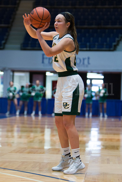 "Dylan Buell | dylanphotog@gmail.com | @dylanphotog<br /> Annabel Moore #22 of the Owensboro Catholic Aces attempts a shot during the All ""A"" Classic Championship at the Frankfort Convention Center Sunday."
