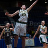 "Dylan Buell | dylanphotog@gmail.com | @dylanphotog<br /> Caroline Hayden #25 of the Owensboro Catholic Aces reaches for a rebound during the All ""A"" Classic Championship at the Frankfort Convention Center Sunday."