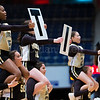 "Dylan Buell | dylanphotog@gmail.com | @dylanphotog<br /> Murray cheerleaders perform during the All ""A"" Classic Championship at the Frankfort Convention Center Sunday."