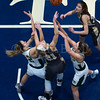 """Dylan Buell   dylanphotog@gmail.com   @dylanphotog<br /> Owensboro Catholic and Murray battle for a rebound during the All """"A"""" Classic Championship at the Frankfort Convention Center Sunday."""