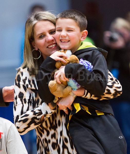 "Dylan Buell | dylanphotog@gmail.com | @dylanphotog<br /> Head coach Rechelle Turner of the Murray Tigers celebrates during the All ""A"" Classic Championship at the Frankfort Convention Center Sunday."