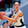 "Dylan Buell | dylanphotog@gmail.com | @dylanphotog<br /> Emily Marshall #12 of the Owensboro Catholic Aces looks to pass during the All ""A"" Classic Championship at the Frankfort Convention Center Sunday."