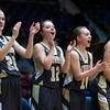 "Dylan Buell | dylanphotog@gmail.com | @dylanphotog<br /> The Murray bench cheers during the All ""A"" Classic Championship at the Frankfort Convention Center Sunday."
