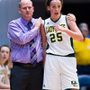 "Dylan Buell | dylanphotog@gmail.com | @dylanphotog<br /> Head coach Michael Robertson of the Owensboro Catholic Aces holds Caroline Hayden #25 during the All ""A"" Classic Championship at the Frankfort Convention Center Sunday."