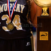 """Dylan Buell   dylanphotog@gmail.com   @dylanphotog<br /> The Murray girls basketball team poses for a photo after winning the All """"A"""" Classic Championship at the Frankfort Convention Center Sunday."""
