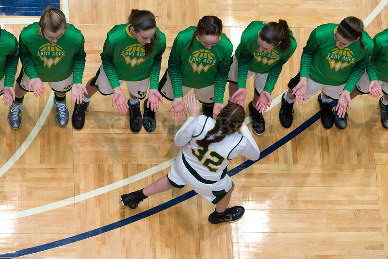 "Dylan Buell | dylanphotog@gmail.com | @dylanphotog<br /> Ellie Mitchell #32 of the Owensboro Catholic Aces is introduced during the All ""A"" Classic Championship at the Frankfort Convention Center Sunday."