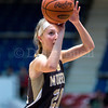 "Dylan Buell | dylanphotog@gmail.com | @dylanphotog<br /> Maddie Waldrop #21 of the Murray Tigers attempts a free throw during the All ""A"" Classic Championship at the Frankfort Convention Center Sunday."