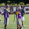 The men's lacrosse team runs through a hard practice. Photographer: Paul Miller
