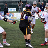 Miles Thompson looks to pass against the United States at the World Lacrosse Championships. Photo: Kenny Frost, Iroquois Nationals