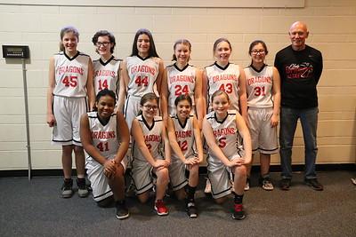 MS 6th Girls Basketball vs Cataldo 2-13-18
