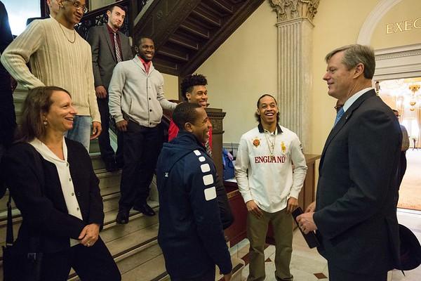 MassBay Basketball Team - State House Visit