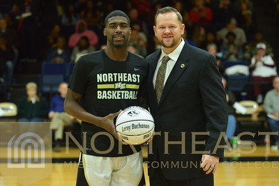 2017-02-16 MBB Leroy Shaq Buchanan 600 point Club Recognition