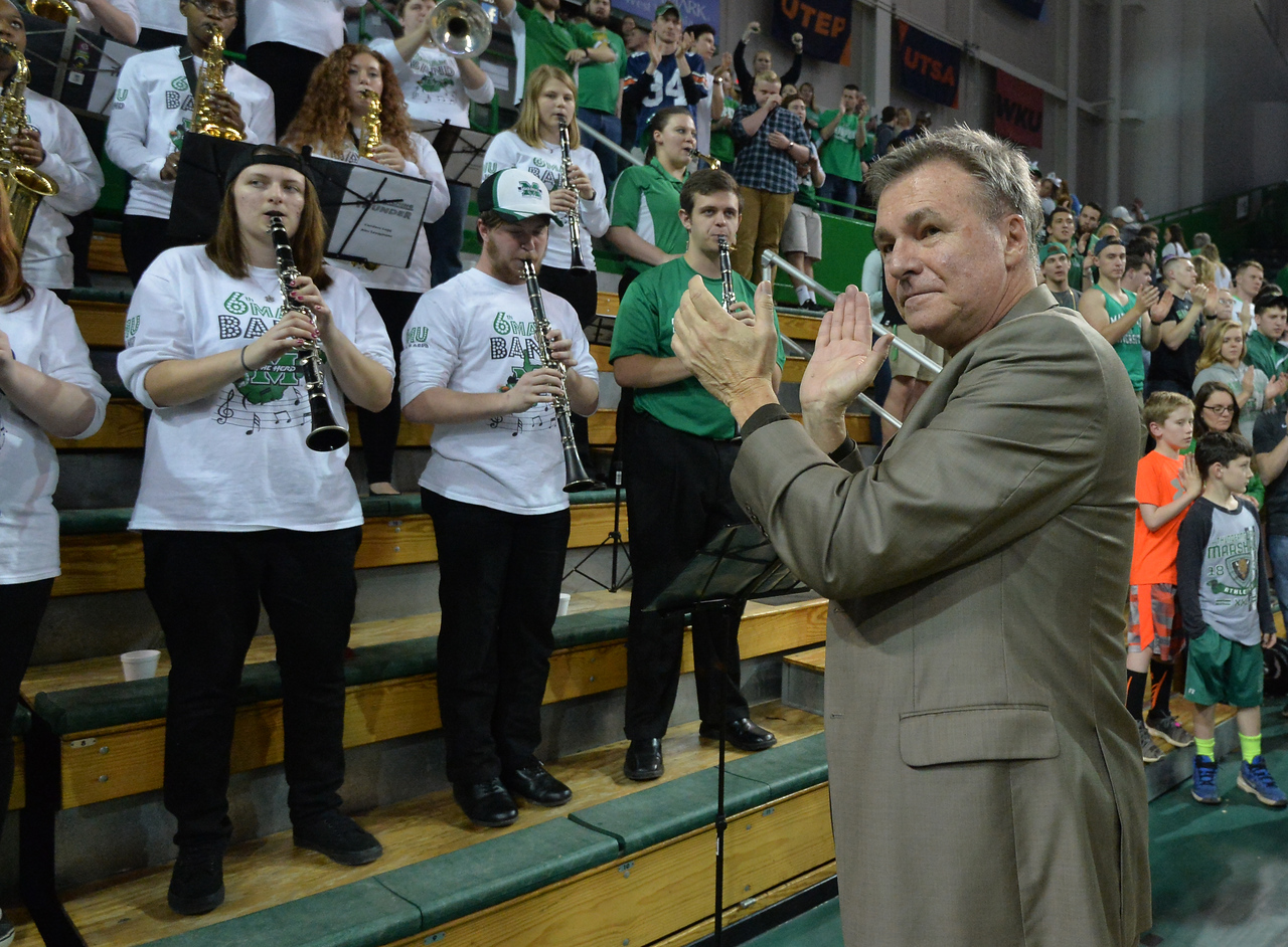 Marshall University; Marshall Basketball; Marshall Men's Basketball; Halftime; Basketball; College Basketball; Herd Hoops; Herd; Marshall University Basketball; Coaches; Marshall University Coaches; Dan D'Antoni; D'Antoni