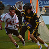 Lyle Thompson looks to pass against Canada at the World Lacrosse Championships. Photo: Kenny Frost, Iroquois Nationals