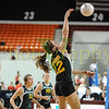 Basehor-Linwood HS vs Chanute HS at the state tournament in Salina Ks. Chanute wins 25-14 and 25-18