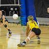 Basehor-Linwood HS vs Louisburg HS at the state tournament at the Bicentennial Center in Salina Ks. Louisburg wins 25-14 & 26-24