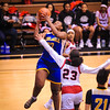 Kansas State 5A Basketball Tournament located in Emporia KS. The Wichita Heights girls take on the FL Schlagle. March 6th 2019. FL Schlagle wins 69 - 67