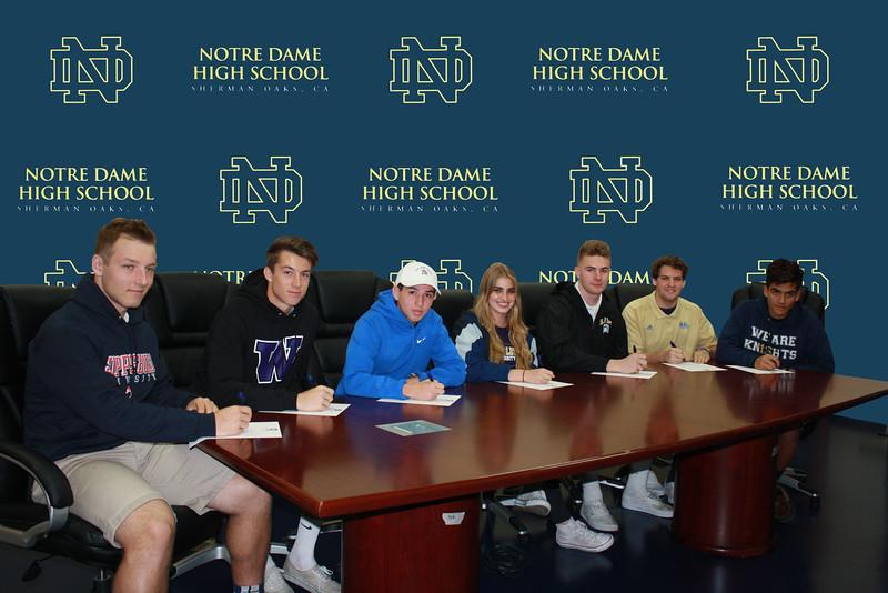 Cole Klayman (left to right), Jesse Fitzgerald, Ronaldo Lomeli, Christin Hirn, Billy Humphreys, Koby Walsh and Phillipe Zamignani.