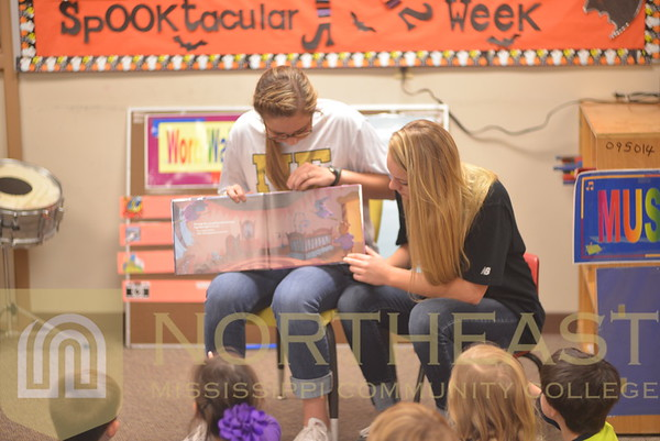 2014-10-30 SB Softball Reading to Childcare