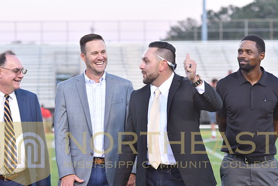 2018-10-04 SHOF Sports Hall of Fame Recognition on Field
