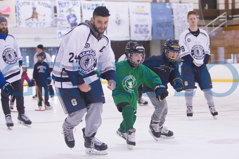 Spring 2018 Jr. Ice Knights Skate Around with Geneseo Ice Knights. Photos by Ben Gajewski