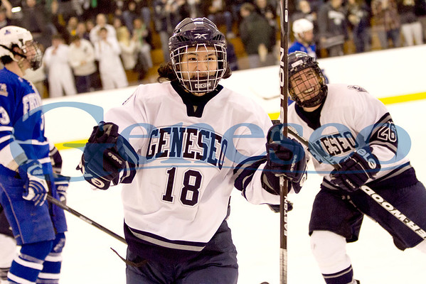 Geneseo Hockey - Photo by Keith Walters Geneseo Office of College Communications