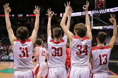 US Boys Basketball vs Brewster - State 3-1-18