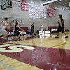 Kyle Terriere saves the ball and gains an assist as Patrick McMahon goes up for two.<br /> Senior Night vs. Overlake 2009