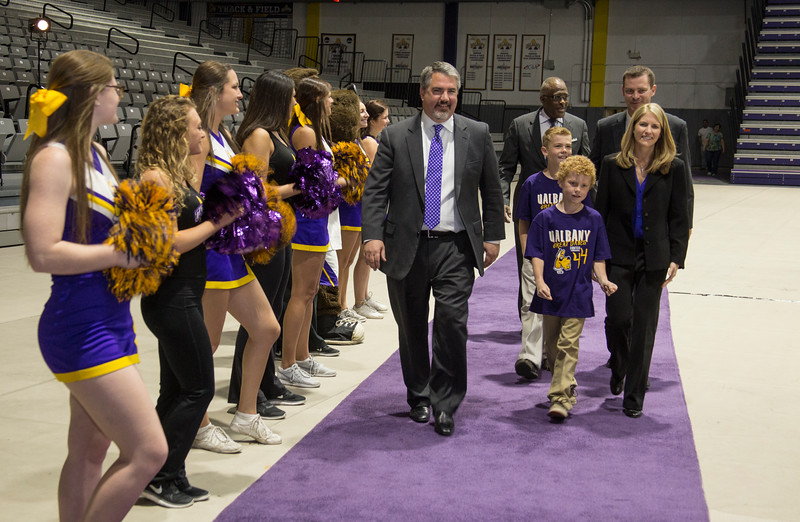 April 22, 2016 - University at Albany introduces Joanna Bernabei-McNamee as the new Head Coach of the Women's Basketball team. Photos by Carlo de Jesus