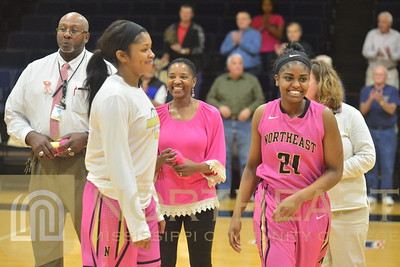 2017-02-13 WBB Honorary Starter Recogntion Pink Out