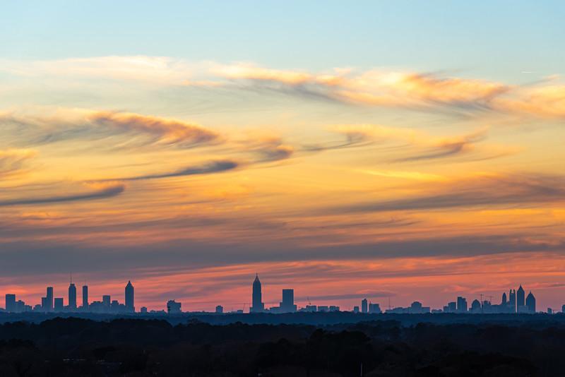 Atlanta Sunset Skyline.