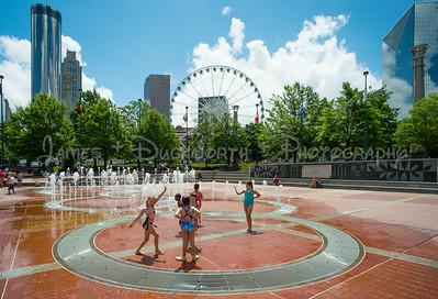 Centennial Park with Skyline and Ferris Wheel