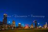 Centennial Park Skyline Wide at Blue Hour