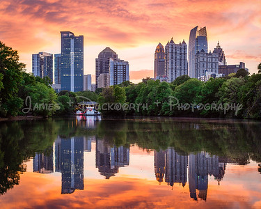 Atlanta's Midtown Skyline from Piedmont Park