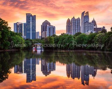 Atlanta's Midtown Skyline from Piedmont Park