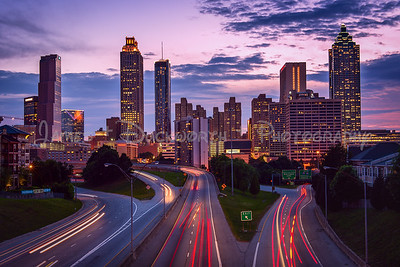 Beautiful Atlanta skyline from the Jackson Street Bridge.