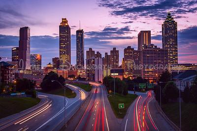 Beautiful Atlanta skyline from the Jackson Street Bridge.