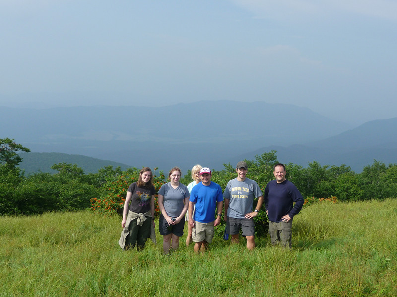 Group Photo at Gregory Bald Overlooking Cades Cove