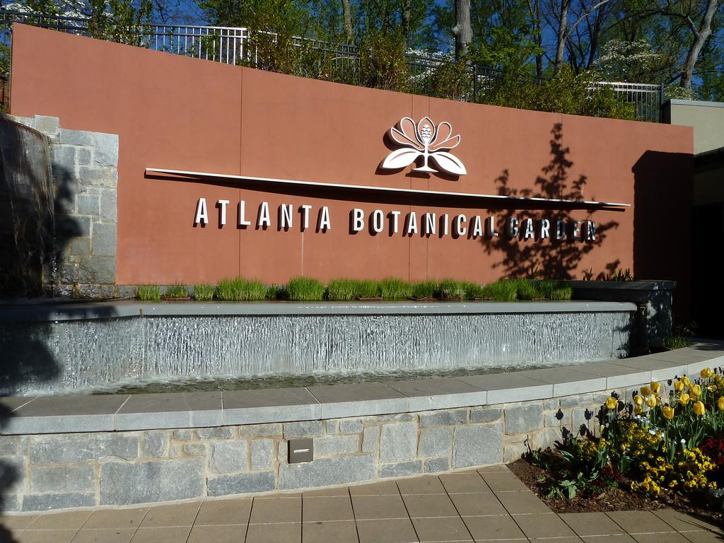 Atlanta Botanical Garden Entrance.