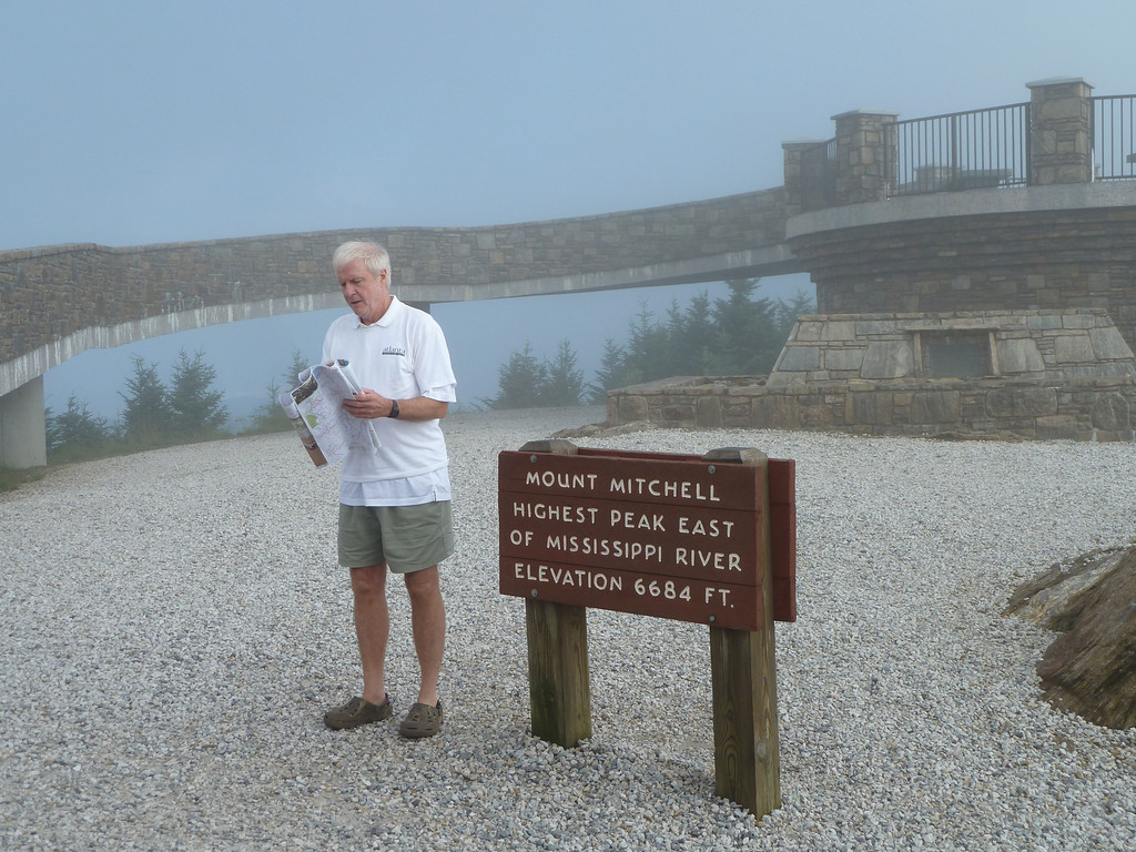 8:31 we arrive at our 2nd peak (Mt Mitchell) North Carolina