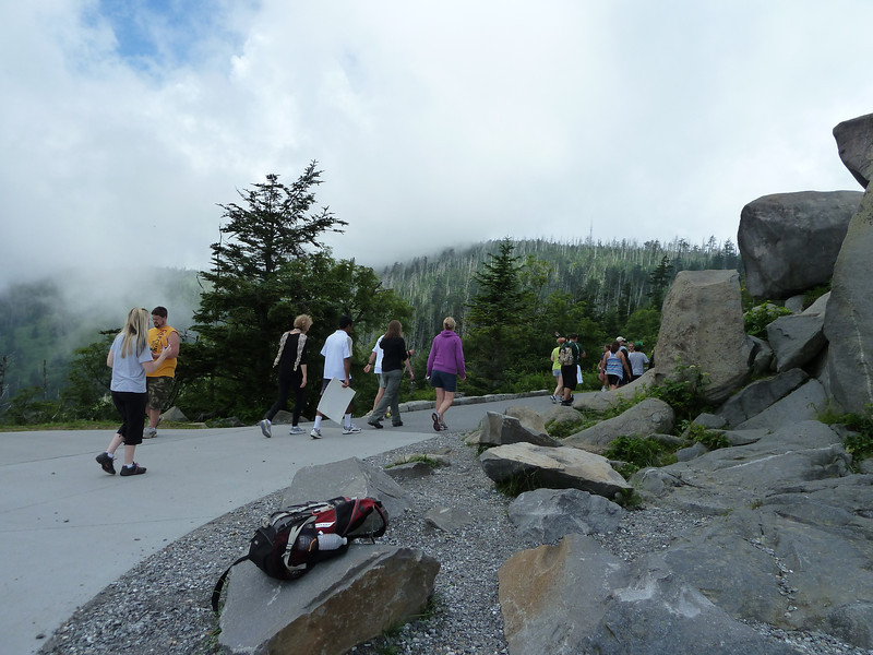 11:36 we arrive at our 3rd peak (Clingman's Dome), Tennessee