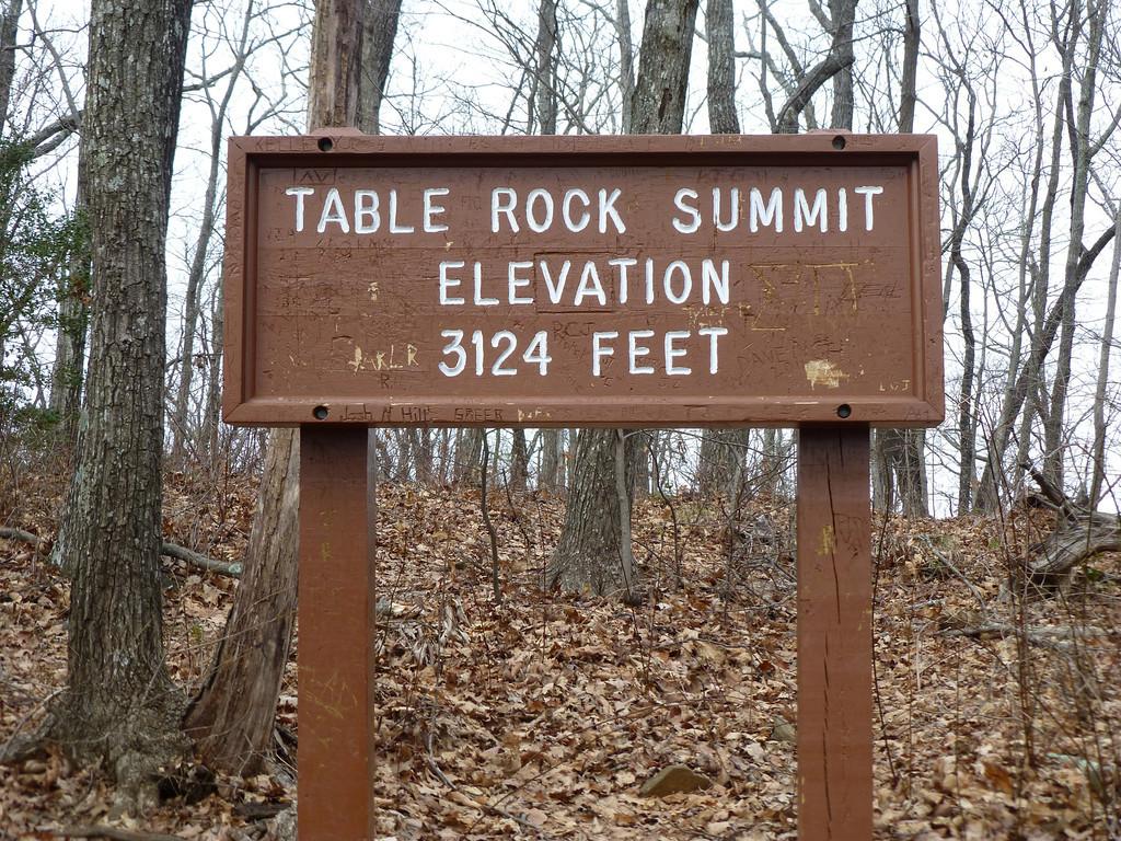 Table Rock Summit Elevation 3124 Feet