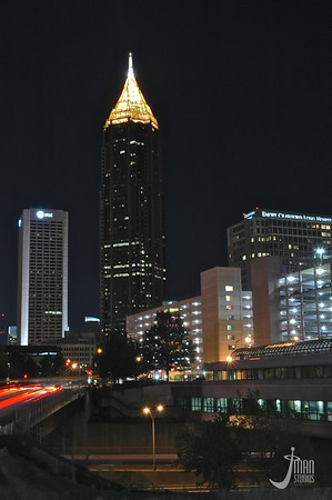 Bank of America Plaza at Night