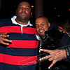 Killer Mike and Chubbie Baby at Rick Ross' album listening party. I noticed that Killer Mike likes to wear red... and it's not the first time that we run into these two