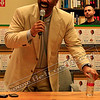 Steve Harvey laughing at his book signing in Barnes and Noble.