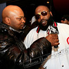 DJ Jelly and Ricky Ross at Rick Ross' Album Listening Party. I remember in early 2008 when I first got started and I didn't know who DJ Jelly was... Of course, I didn't let him know it.